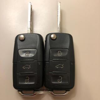 Volkswagen - キーレス 同溝 2本 フォルクスワーゲン ゴルフⅤ   通電確認済み