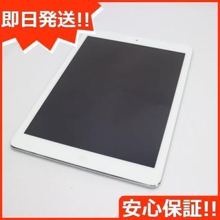 アップル(Apple)の美品 au iPad Air Cellular 16GB シルバー (タブレット)