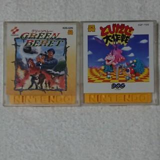 ファミリーコンピュータ(ファミリーコンピュータ)の起動確認済み ディスクカード 2タイトルセット K(家庭用ゲームソフト)