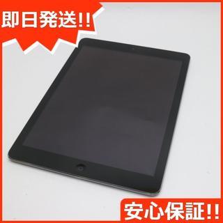 アップル(Apple)の美品 au iPad Air Cellular 16GB スペースグレイ (タブレット)