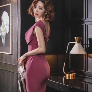 JEWELS - 【新品】ナイトドレス キャバドレス セクシーワンピース ロング丈 ピンク タイト