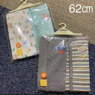 マザウェイズ(motherways)の新品 未使用 ロンパース 長袖 62㎝ 4枚 マザウェイズ ベビー(ロンパース)