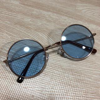 ジーディーシー(GDC)のGDC ブルー 丸メガネ サングラス カラーサングラス(サングラス/メガネ)