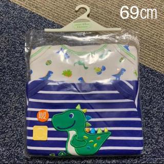 マザウェイズ(motherways)の新品 未使用 ロンパース 長袖 69㎝ 2枚組 マザウェイズ ベビー(ロンパース)