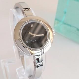 Gucci - 綺麗 グッチ 新品仕上げ 花柄 黒 レディースウォッチ 腕時計 フローラ 極美品