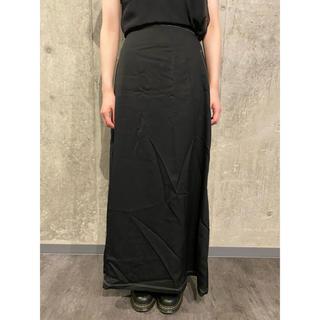 ヨウジヤマモト(Yohji Yamamoto)の美品 ヨウジヤマモト ウールギャバ ステッチデザインロングスカート #[749](ロングスカート)