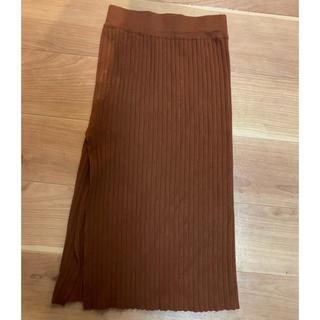 アナップ(ANAP)のリブスリットスカート(ロングスカート)