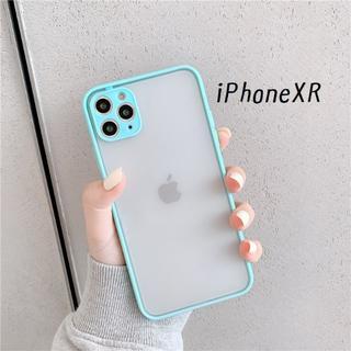 大人気!iPhoneXR シンプル カバー ケース ミント(iPhoneケース)
