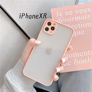 大人気!iPhoneXR シンプル カバー ケース サーモン(iPhoneケース)