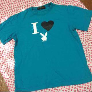 444円❤️ターコイズ♬プリントTシャツ(Tシャツ(半袖/袖なし))