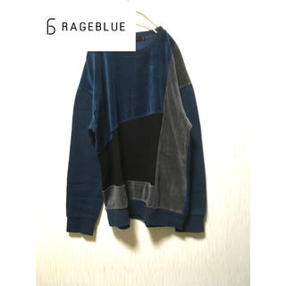 RAGEBLUE - RAGEBLUE 切り替えパッチワークベロアシャツ フォロー割実施中!!