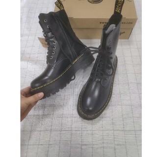 ドクターマーチン(Dr.Martens)のブーツ UK4Dr.Martensドクターマーチン ブラック  男女兼用 厚底 (ローファー/革靴)
