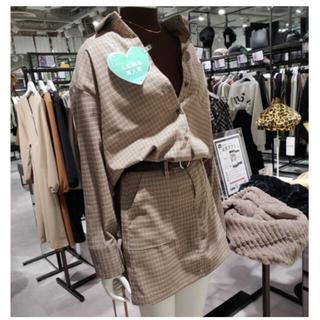 dholic - 【美品】DHOLIC チェックシャツ&ミニスカート