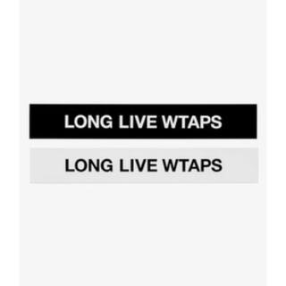 W)taps - wtaps 20ss llw sticker 白と黒2枚入り supreme