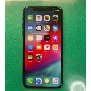 アイフォーン(iPhone)のiPhoneX 64Gb Space Grey Simフリーバッテリー99%(携帯電話本体)