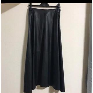 スコットクラブ(SCOT CLUB)の最終値下げ!フェイクレザーフレアスカート(ロングスカート)