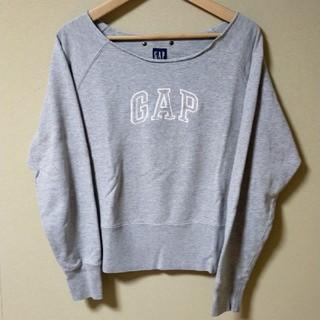 ギャップ(GAP)のレディース GAP トレーナー 古着スウェット シンプル ゆったり 重ね着に最適(トレーナー/スウェット)