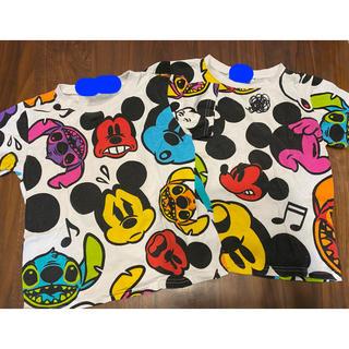 デイジー(Daisy)のディズニーランド 限定 Tシャツ ミッキー スティッチ フェイス 双子 兄弟(Tシャツ/カットソー)