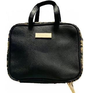 ヴェルサーチ(VERSACE)の新品 ヴェルサーチ ポーチ バニティ ブラック ゴールド(ハンドバッグ)