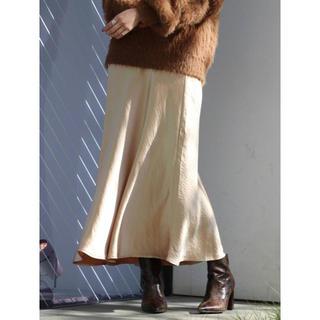アングリッド(Ungrid)のUngrid サテンフィットマキシスカート(ロングスカート)