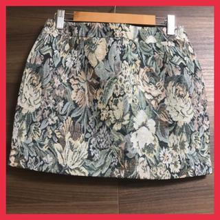 ダズリン(dazzlin)の【新品】 ダズリン ミニスカート  花柄 Mサイズ ブラック(ミニスカート)