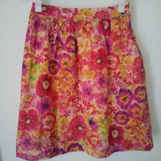 ビームス(BEAMS)のビームス ビームスライツ リバティ リバティプリント スカート 花柄 フラワー(ひざ丈スカート)
