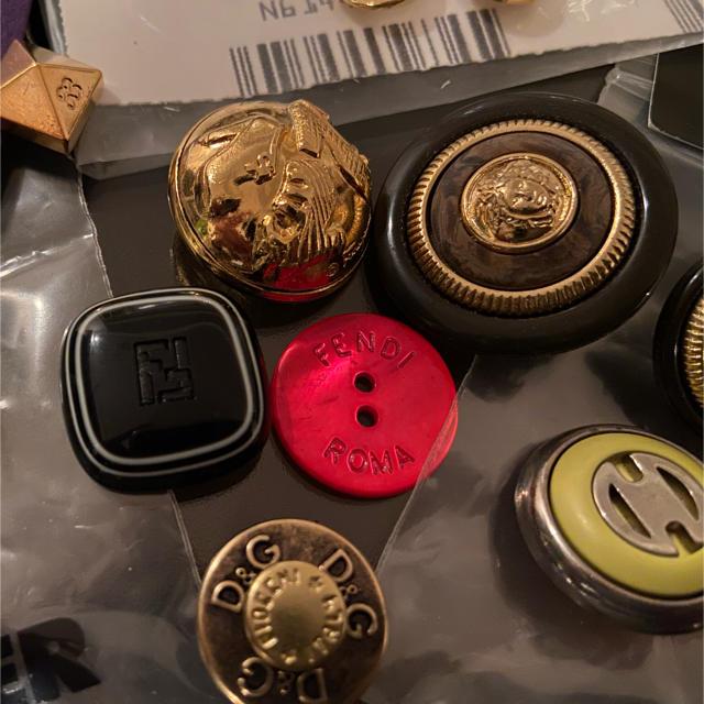 celine(セリーヌ)のブランドボタンセット ハンドメイドの素材/材料(各種パーツ)の商品写真