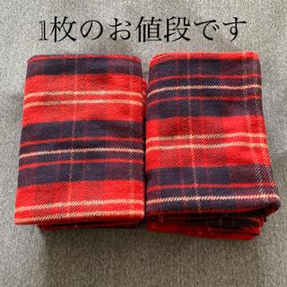 ムジルシリョウヒン(MUJI (無印良品))の無印良品 綿フランネル ひざ掛け  ブランケット  赤チェック(毛布)