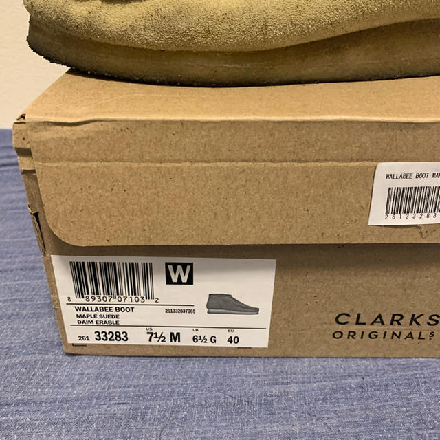 Clarks(クラークス)のclarks クラークス wallabee ワラビー メープルスエード 40 メンズの靴/シューズ(ブーツ)の商品写真