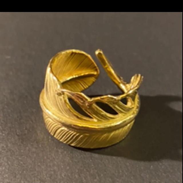 goro's(ゴローズ)のwing rock 18k全金フェザーリング メンズのアクセサリー(リング(指輪))の商品写真