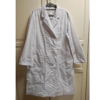 MONTBLANC - MONTBLANC3L制菌加工51-011Nレディース長白衣長袖ダブル白