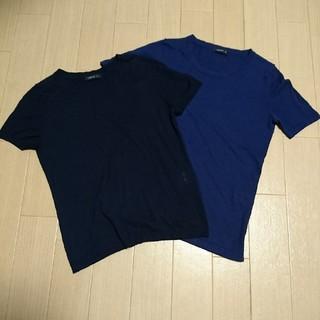 コムサイズム(COMME CA ISM)のコムサイズム 半袖ニット ネイビー Mサイズ(ニット/セーター)