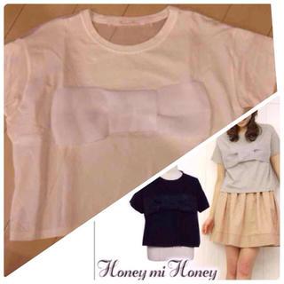ハニーミーハニー(Honey mi Honey)のハニーミーハニー♡オーガンジーリボン(Tシャツ/カットソー(半袖/袖なし))