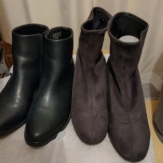 ユニクロ(UNIQLO)のショートブーツ 2つセット(ブーツ)