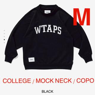 ダブルタップス(W)taps)のCOLLEGE / MOCK NECK / COPO 黒 M(スウェット)