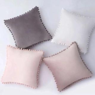 フランフラン(Francfranc)の【ピンク】クッションカバー 45×45  2枚セット 北欧 韓国 ベルベット(クッションカバー)