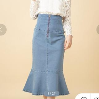 ミーア(MIIA)のMIIA マーメイドデニムスカート(ひざ丈スカート)
