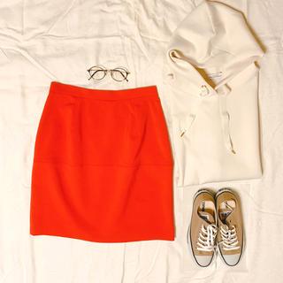 ビームス(BEAMS)の【値下】BEAMS オレンジタイトスカート(ひざ丈スカート)