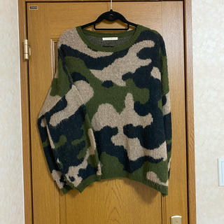 over size  camouflage knit      magliano(ニット/セーター)