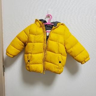 ザラキッズ(ZARA KIDS)の黄色 ダウンジャケット 86(ジャケット/コート)