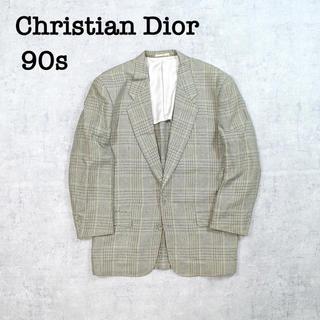 Christian Dior - 90s Christian Dior ディオール ツイード生地 チェック シルク