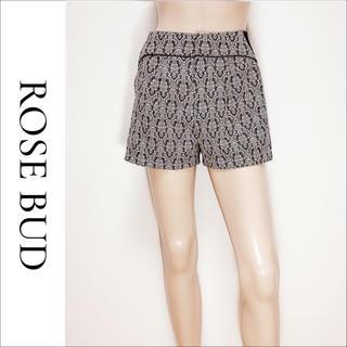 ローズバッド(ROSE BUD)のROSE BUD バロック柄 ショートパンツ*ロイヤルパーティー エゴイスト(ショートパンツ)