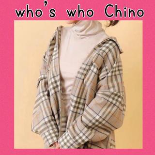 フーズフーチコ(who's who Chico)のwho's who Chico フーズフーチコ タートルネック ピンクベージュ♡(ホルターネック)