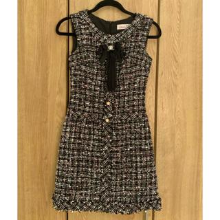 an - anツイードドレス