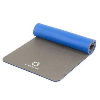 アースブラウン×ブルーヨガマット トレーニングマット 【エコ素材PE】 厚さ10(ヨガ)