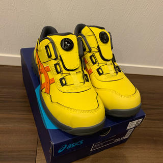 asics - アシックス 安全靴 26cm ブライトイエロー×ハバネロ