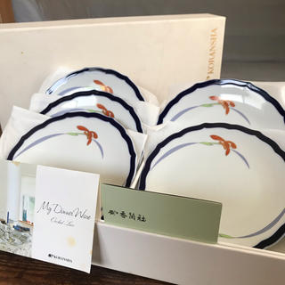コウランシャ(香蘭社)の香蘭社 皿 オーキッドレース 5枚 箱入り 有田焼 ヴィンテージ 匿名配送(食器)