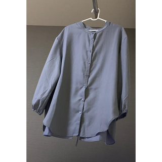 シマムラ(しまむら)のくすみパープルシャツ (シャツ/ブラウス(長袖/七分))