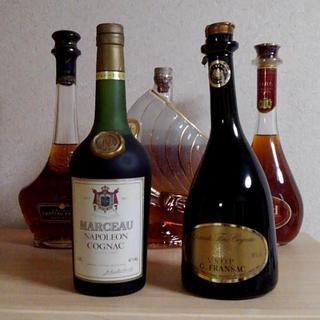 コニャック5本セット;ラーセン ナポレオン、シャトー・ポーレ、オタール VSOP