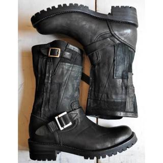 イサムカタヤマバックラッシュ(ISAMUKATAYAMA BACKLASH)の美品 桜井着 同色同型 BACKLASH パッチワーク ブーツ 26cm(ブーツ)